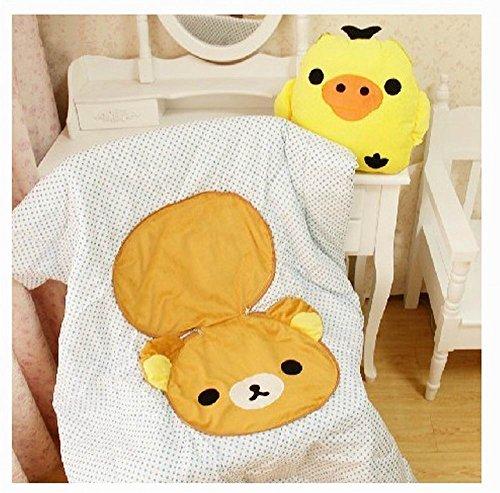 "San x Rilakkuma Long Face Bedding Pillow Cushion  Body Pillow Jumbo 34/"" Licensed"