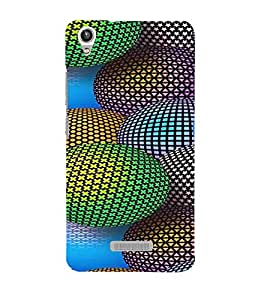 PRINTVISA Abstract Colourful Ball Case Cover for Lava Pixel V1
