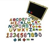 考える力!! 木製 マグネット セット アルファベット 数字 黒板 付 キャラクター (黒板付)