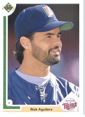 1991 Upper Deck # 542 Rick Aguilera Minnesota Twins - MLB Baseball Trading Card