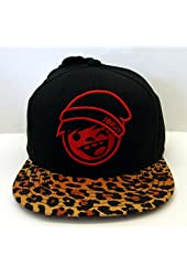 Neff Logo Snapback Cap Hat Black Leopard