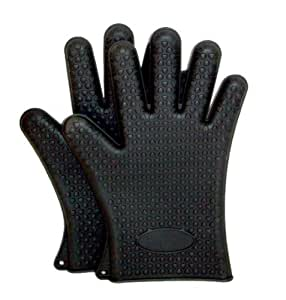 1 paire de Gants de cuisine avec 5 doigts / Manique - Noirs - 10 ans de garantie