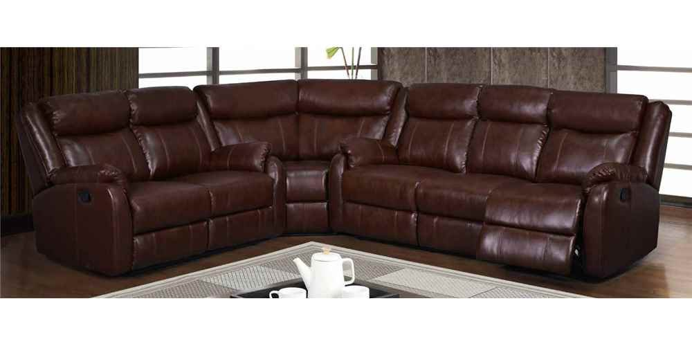 3-Pc Sectional in Brown