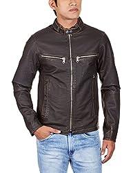 Lathero Men's Leather Jacket (SAJ-17C_Black_Large)