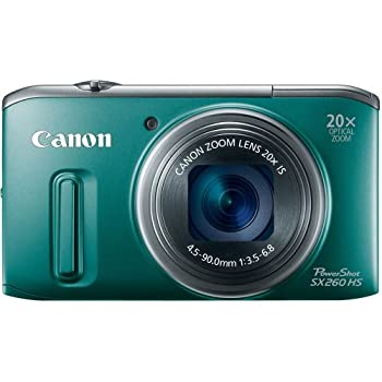 Set A Shopping Price Drop Alert For Canon PowerShot SX260 HS 12.1 MP CMOS Digital Camera with 20x Image Stabilized Zoom 25mm Wide-Angle Lens and 1080p Full-HD Video (Green)
