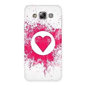Delighted Heart Splash Multicolor Back Case Cover for Galaxy E7