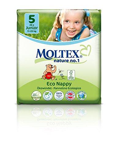 scatola di cartone - MOLTEX Nature No1 Pannolini ecologici orso baby nappies (JUNIOR misura 5 (11-25 kg) - 104pz)