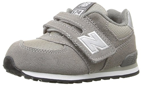 New Balance Boys' KG574 Lifestyle Sneaker, Grey, 2 M US Infant (New Balance Baby Shoes compare prices)
