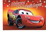 Disney Pixar Cars Lightning McQueen Holiday Card Set- Red