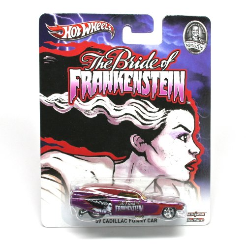 '59 CADILLAC FUNNY CAR * BRIDE OF FRANKENSTEIN / UNIVERSAL STUDIOS MONSTERS * Hot Wheels 2013 Pop Culture Series 1:64 Scale Die-Cast Vehicle