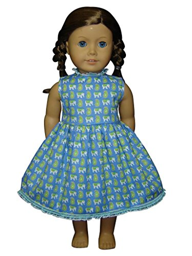 "Glamerup Collection: Anika - 18"" Doll Dress, Elephant, Paisley, Lace"