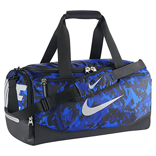 NIKE Team training max air Duffel Gym Travel Bag Small Blue Camo