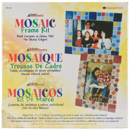 Jennifer's Mosaics Mosaic Picture Frame Kit, Makes 2 Frames - 1
