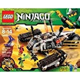 Lego Ninjago Ultra Sonic Raider Set 9449 With 6 Minifigures, All-Terrain Tracks And Flying Vehicle Toy / Game / Play / Child / Kid