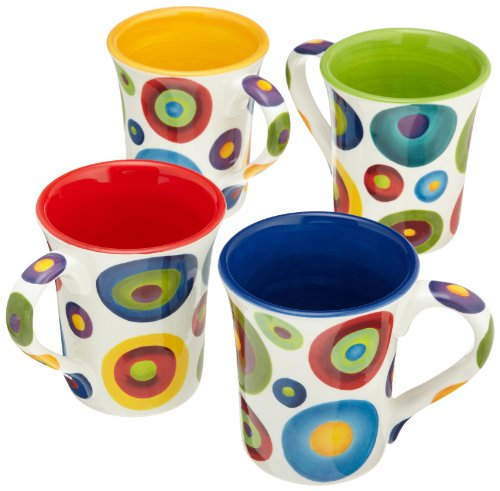CHEAP Henriksen Imports Circles 14-Ounce Mugs, Set of ...