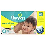 Pampers Swaddlers Disposable Diapers Size 5, 124 Count, ECONOMY PACK PLUS