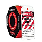 Accuform Signs TAR418 Tags By-The-Roll Lockout Tags, Legend