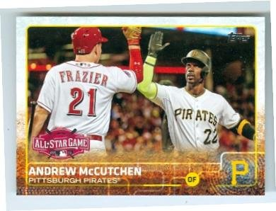 Andrew McCutchen baseball card (Pittsburgh Pirates MVP) 2015 Topps #US 100 All Star Game