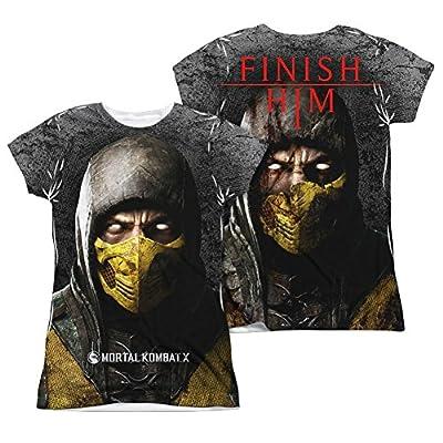 Mortal Kombat X Finish Him Junior Fit All Over Print Front / Back T-Shirt