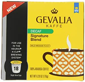 Gevalia Coffee Pods, Signature Blend Decaf, 18 Count