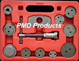 Disc Brake Caliper Piston Compressor Windback Wind Back Pad Tool 12pc W/case