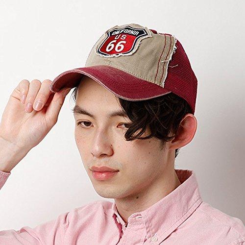 カスターノ(CASTANO) 帽子(66 ワッペンメッシュキャップ)【レッド/**】