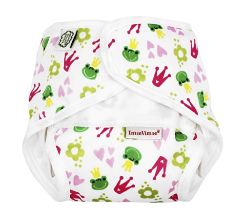 Imse Vimse All-in-one Diaper - New Sizing - Kiss the Frog - P