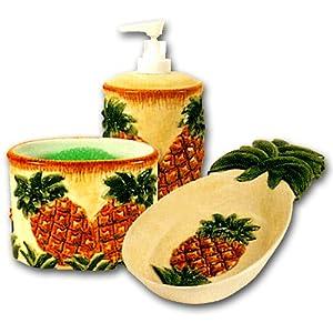 ceramic pineapple kitchen counter top