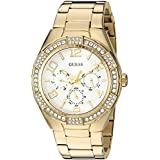 GUESS Women's Quartz Stainless Steel Automatic Watch, Color:Gold-Toned (Model: U0729L2)