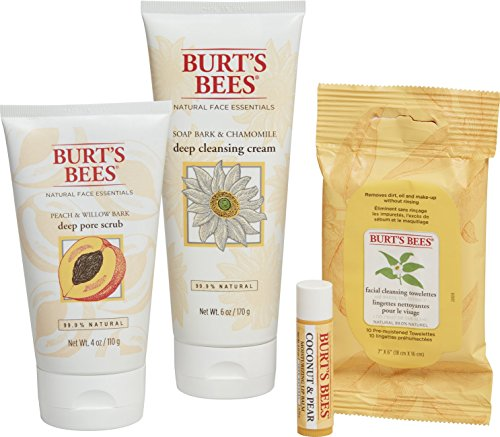 Burt's Bees Face Essentials Holiday Gift Set, 4 Products in Gift Box