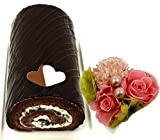 母の日ギフト ロールケーキ 花 選べるロールケーキとハートプリザーブドフラワーセット (アマリアロールチョコ)花とスイーツ