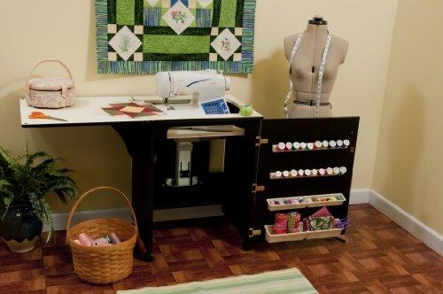 Sewnatra Sewing Cabinet Finish: Black