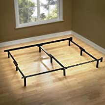 Sleep Revolution Compack Bed Frame with 9-Leg Support System 60 by 70.5 by 7-Inch