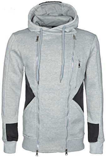 BELMAN DENIM -  Felpa con cappuccio  - Uomo Light Grey X-Large