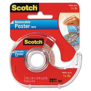 Scotch Removable Poster Tape .75x150 109 Pack Of 12