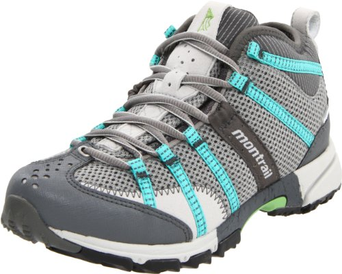 Montrail Women's Mountain Masochist Mid Outdry Stable Trail Running Shoe,Stainless/ Reef,9.5 M US