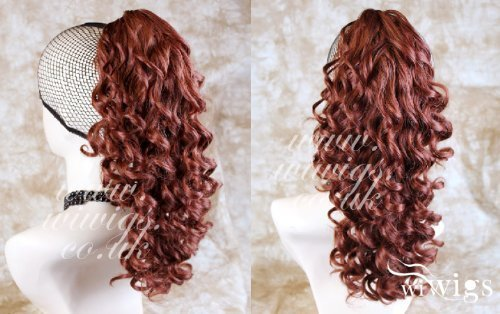 NEW Fox Red Ponytail Irish Dance Extension Spiral Curly Hair Piece UK by Wiwigs