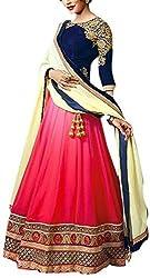 FabPandora Cotton Women's Lehenga Choli and Dupatta Set (Shoulder Pink lehenga@123_Pink_Free Size)