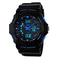 Skmei Day/Week Dual Time Display Analog Digital Mens Wrist Watch - GM5590BLU