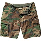 Woodland Camouflage Vintage Paratrooper Army Military Cargo Shorts Size Small