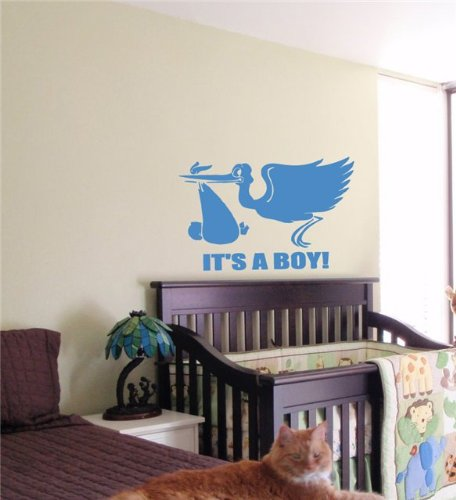 "It""s a Boy Kids Wall Art Sticker Baby Room Nursery 10"