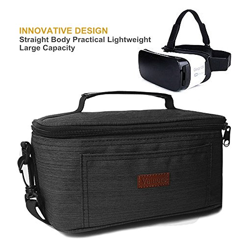 Vaincre Handmade Premium Waterproof Canvas Case Bag for Samsung Gear VR, Vaincre Virtual Reality Headset, and all the other brands VR Glasses 3D Glasses