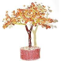 Reiki Crystal Tree Orange Carnelian Crystal Tree 300 Beads Healing Gemstone