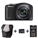 Nikon Coolpix L620 - Black + Case + 8GB Memory Card + AA Battery and Charger (18MP, 14x Optical Zoom) 3 inch LCD