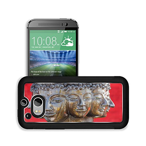 Liili Premium HTC One M8 Aluminum Snap Case multi headed metallic buddha head on red background thailand IMAGE ID 9736632 (Premium Cult Edition compare prices)