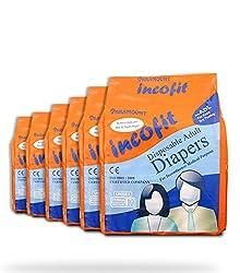 Incofit Premium Adult Diapers-Medium, Pack of 60