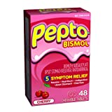 Pepto-Bismol Tablets, Cherry Relief Heartburn - 48 Each