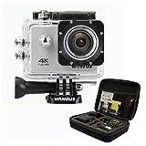 WIMIUS Wifi 4K(30FPS) 2.0インチ液晶 防水 スポーツ アクションカメラ ウェアラブルカメラ 戸外用 (シルバー)