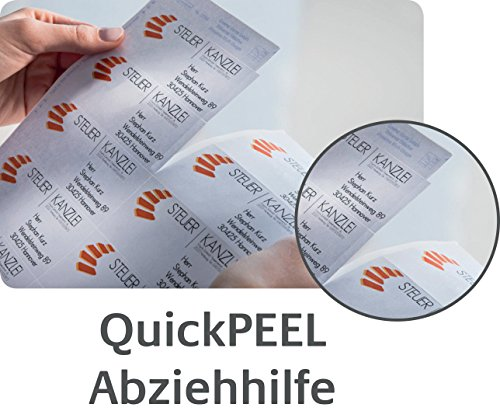 AVERY/Zweckform QuickPEEL ?tiquettes laser, 99,1 x 38,1mm,