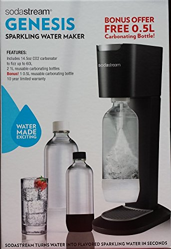 Sodastream Genesis Sparkling Water Maker (with Bonus bottle) (Genesis Soda Maker compare prices)